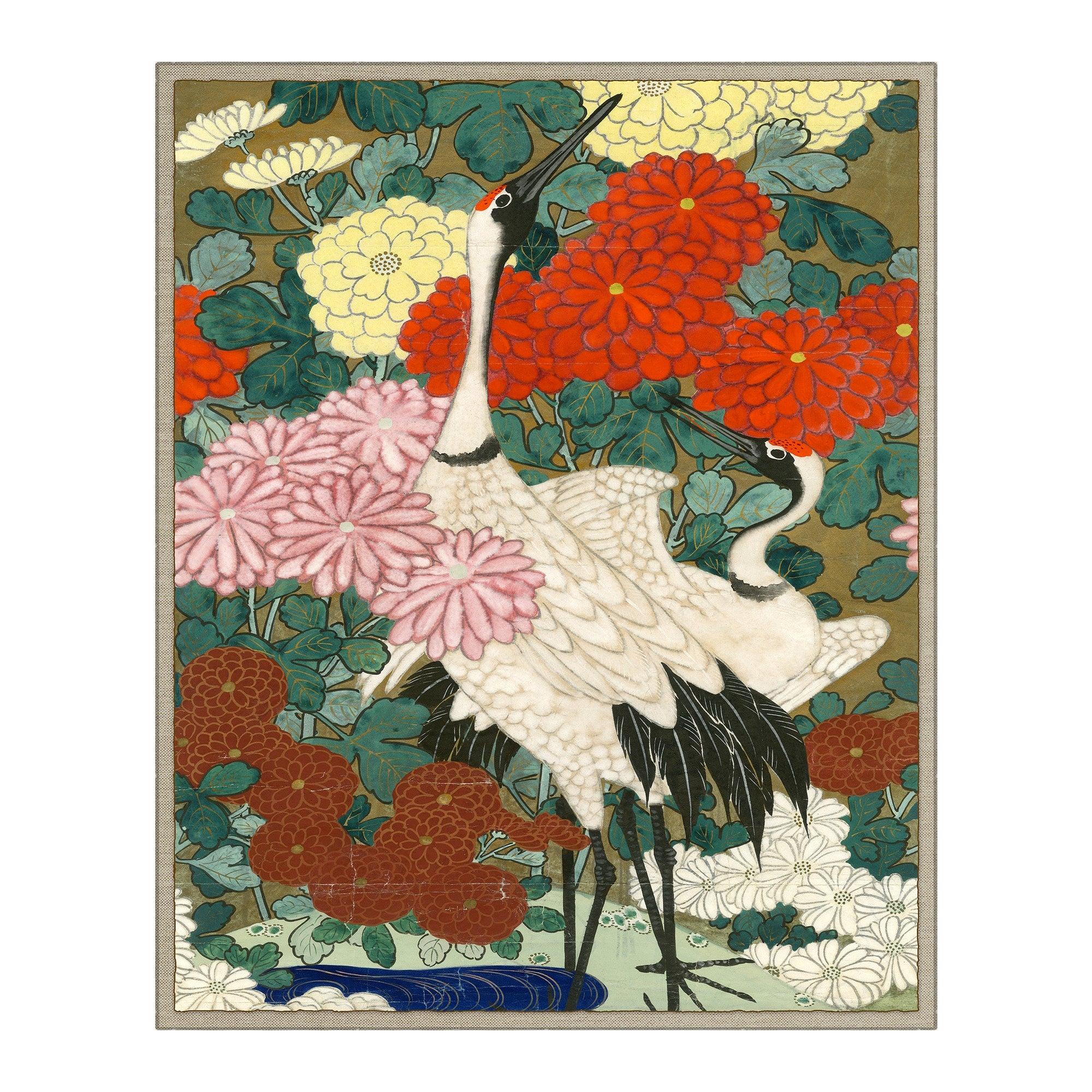 Asian Crane Japanese Print by CuratedKravet