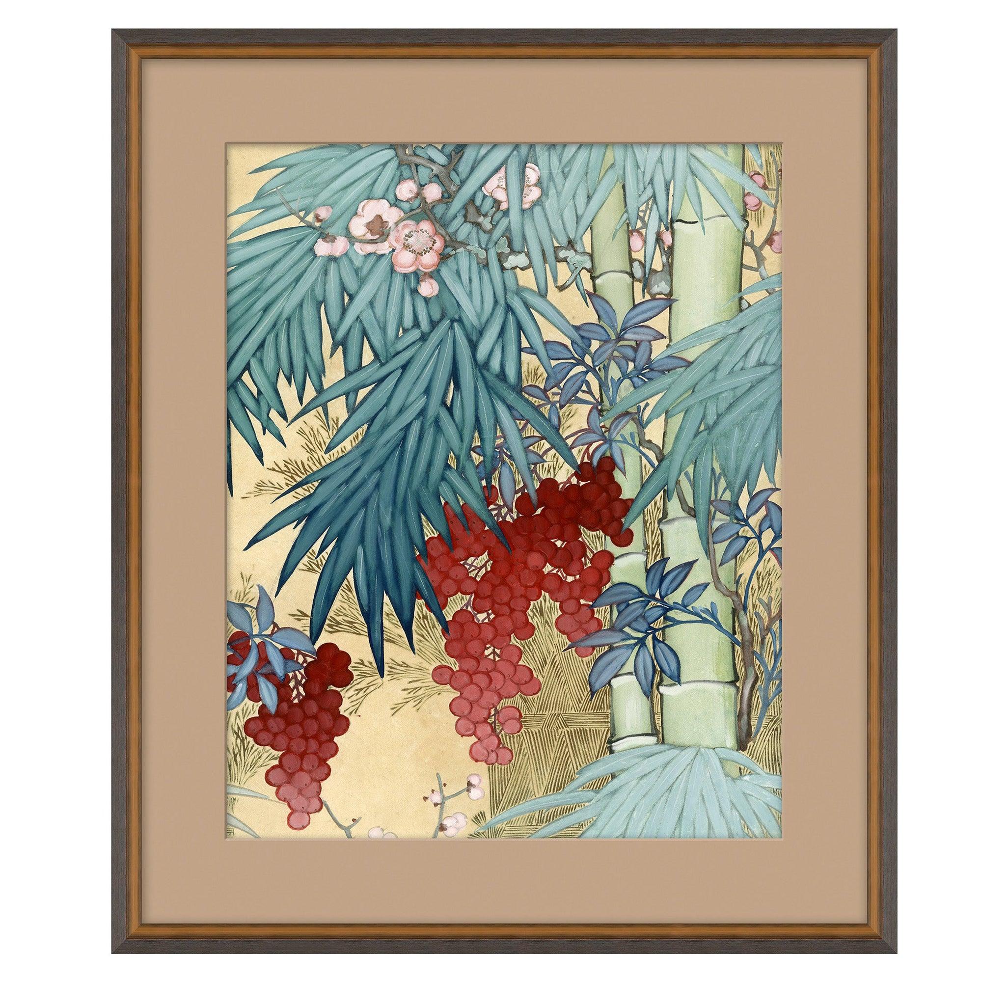Blue Floral II Japanese Print by CuratedKravet