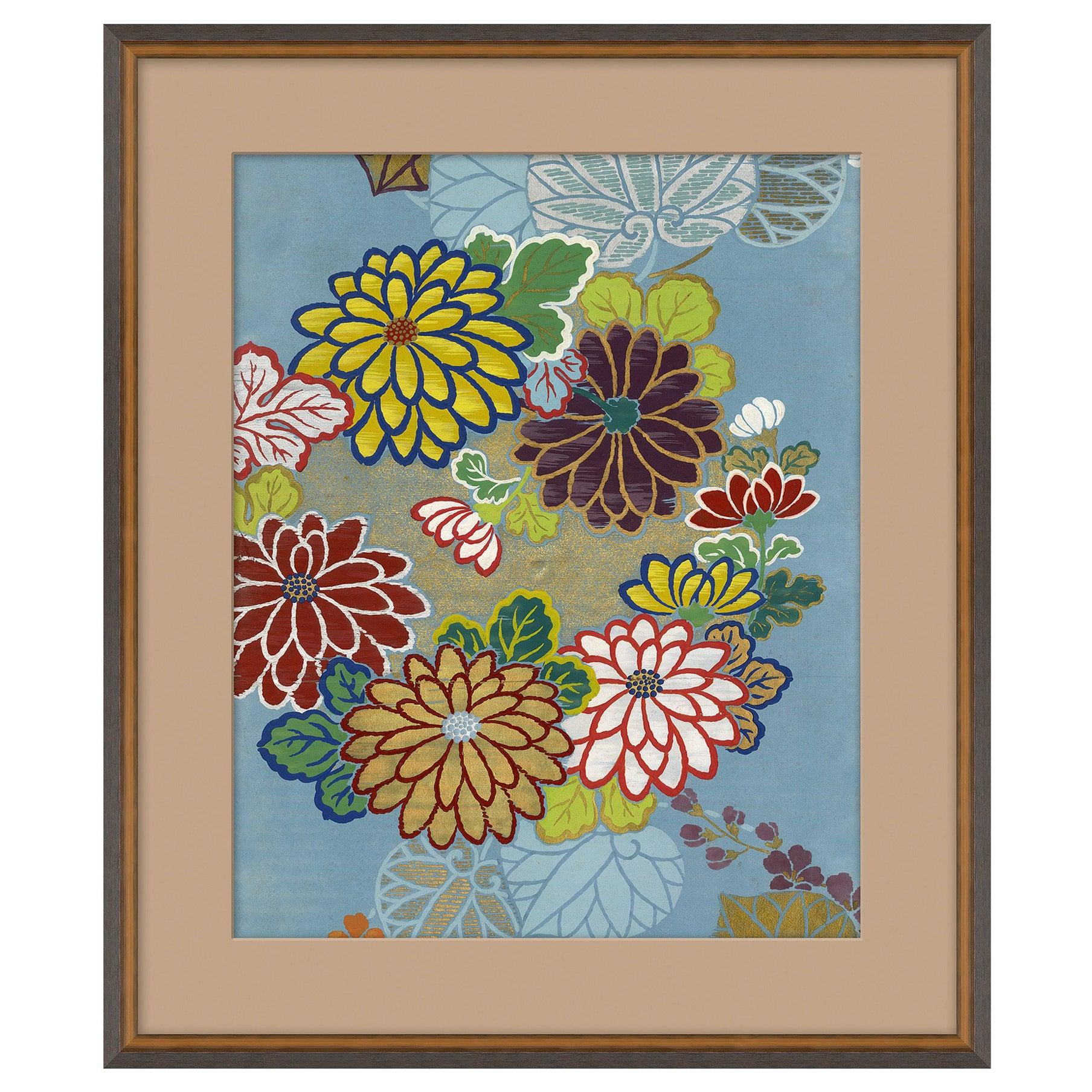 Blue Floral III Japanese Print by CuratedKravet