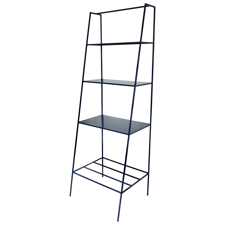 Modern Bookcase Room Divider - Minimal Steel Metal Shelving