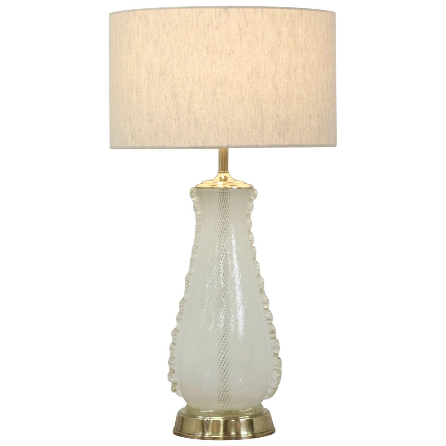 1960s Italian Murano Camer Glass Lamp