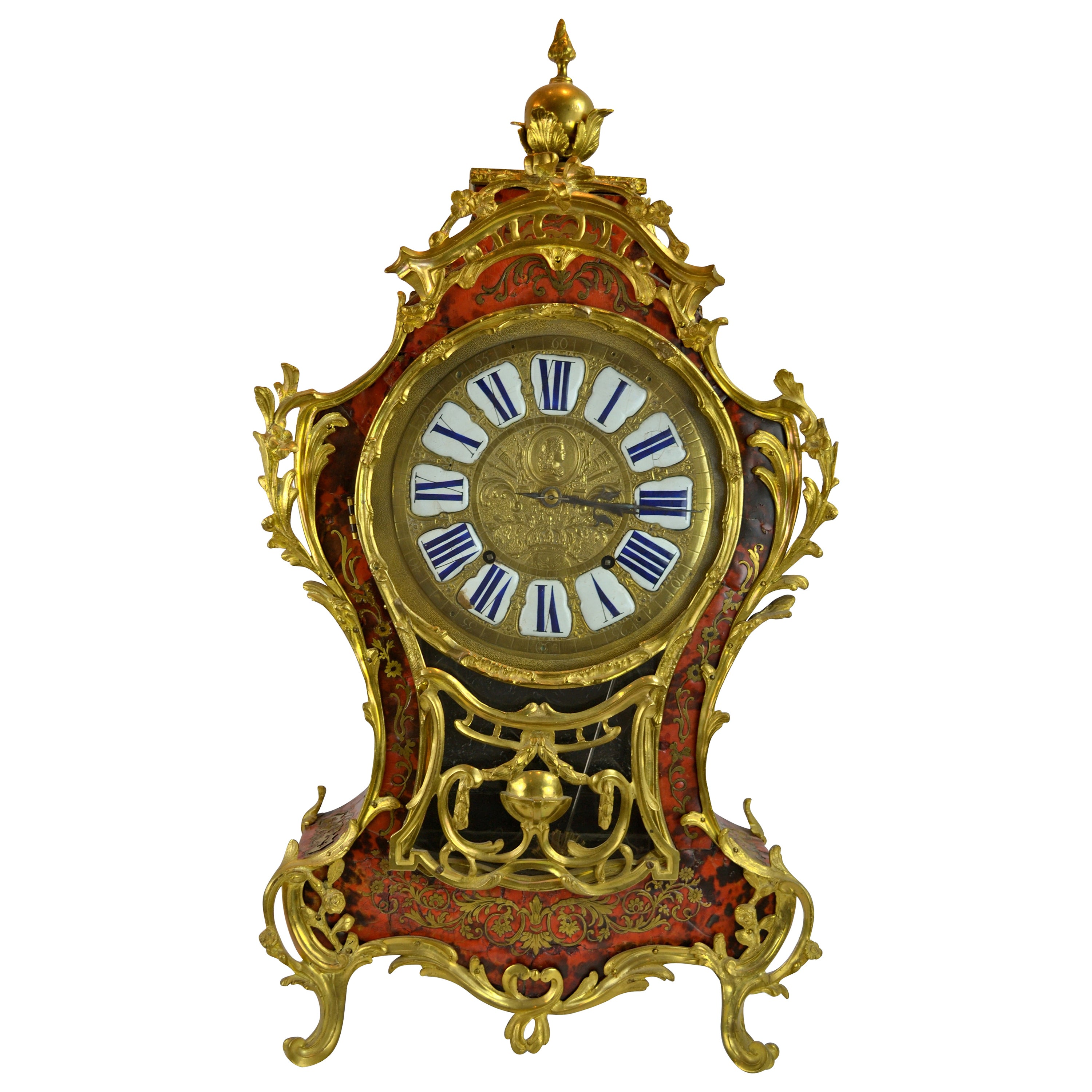 18th Century French Louis XV Boulle and Gilt Bronze Bracket Clock