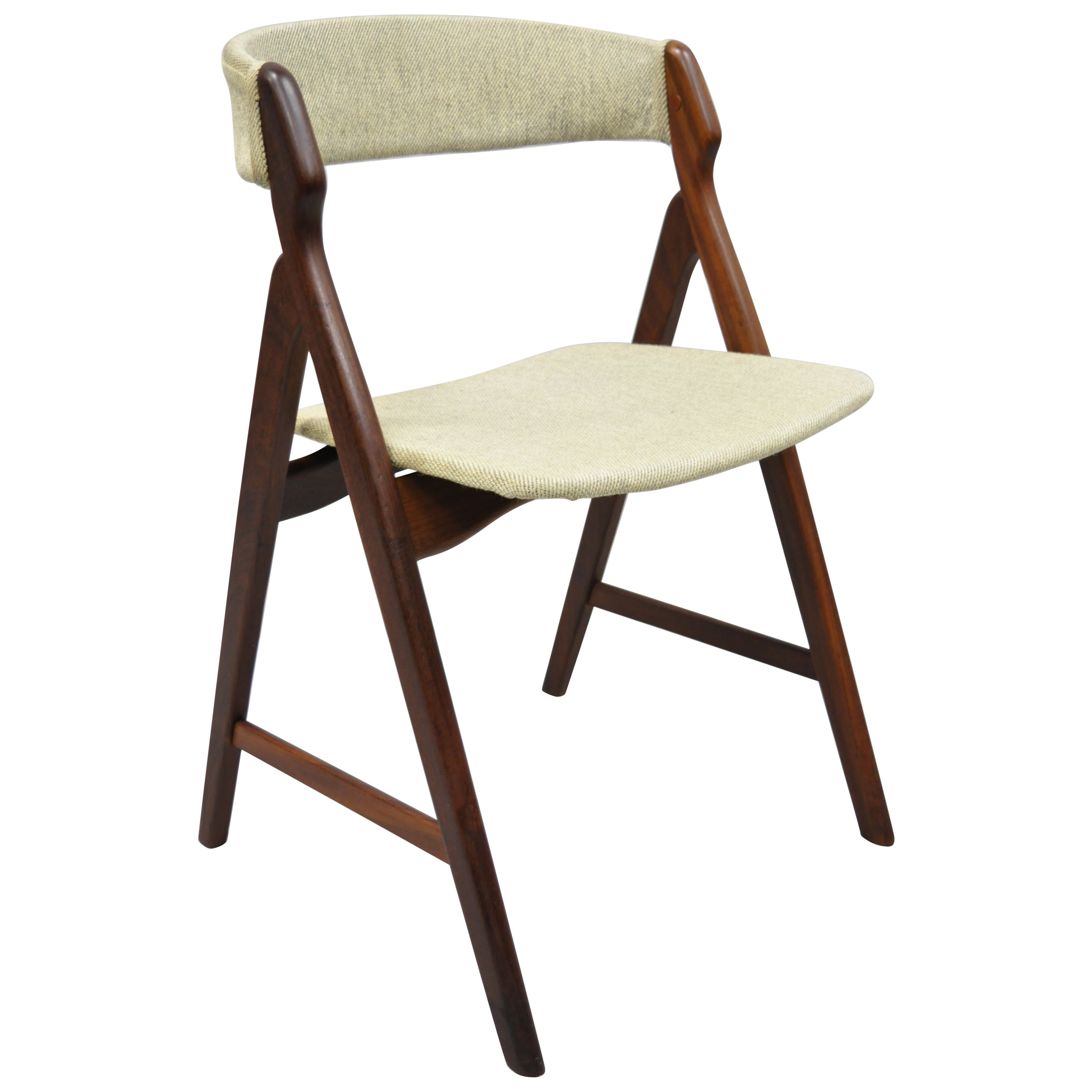 Midcentury Danish Modern Teak A-Frame Dining Chair by T.H. Harlev Farstrup