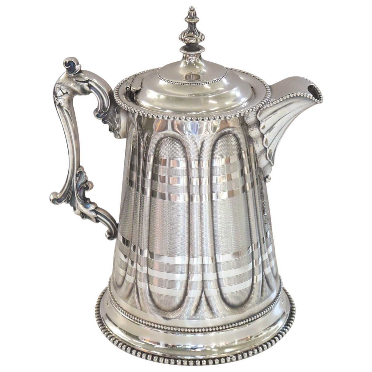 19th Century American Antique Silver Plate Pitcher by Rogers Smith & Co