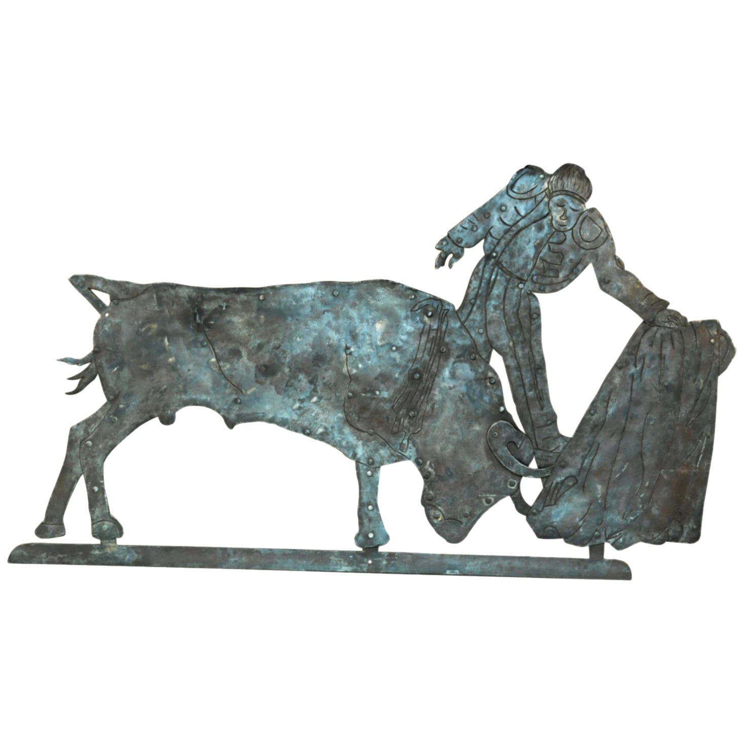 Early 20th Century Bull Fight Sign