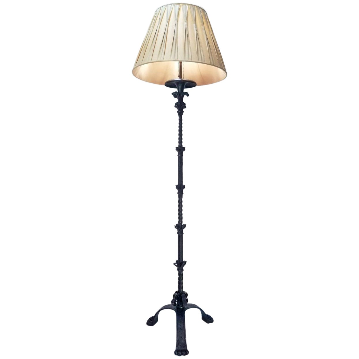 Early 20th Century Caldwell Wrought Iron Floor Lamp