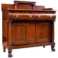 Small American Empire Sideboard in Mahogany, circa 1820