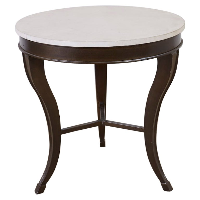 Iron and Stone Top Center Table or Drink Table