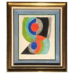 Sonia Delaunay Stunning Original Cubist Art Composition
