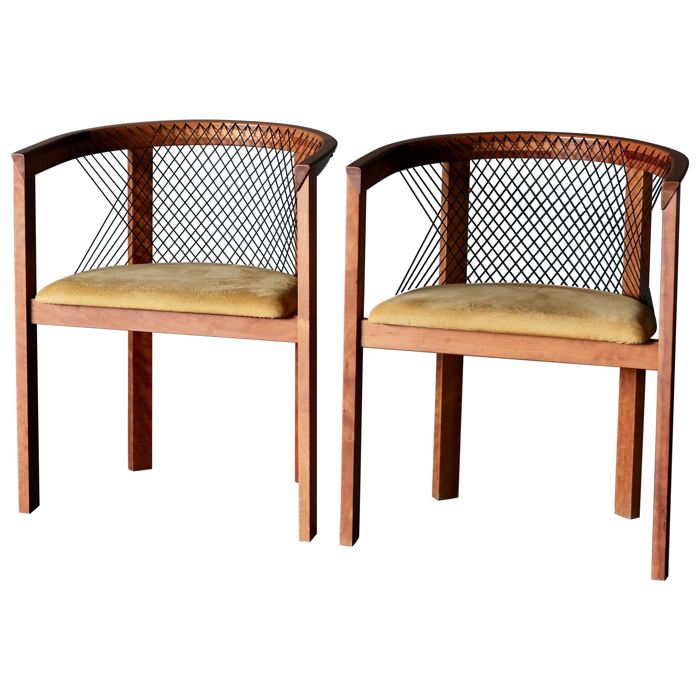 """Niels Jorgen Haugesen, """"String"""" Chairs, a Pair"""
