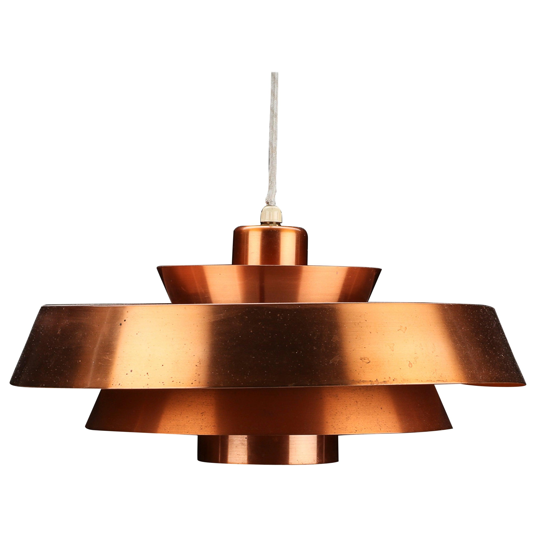 Jo Hammerborg Nova copper pendant for Fog & Mørup 1960s