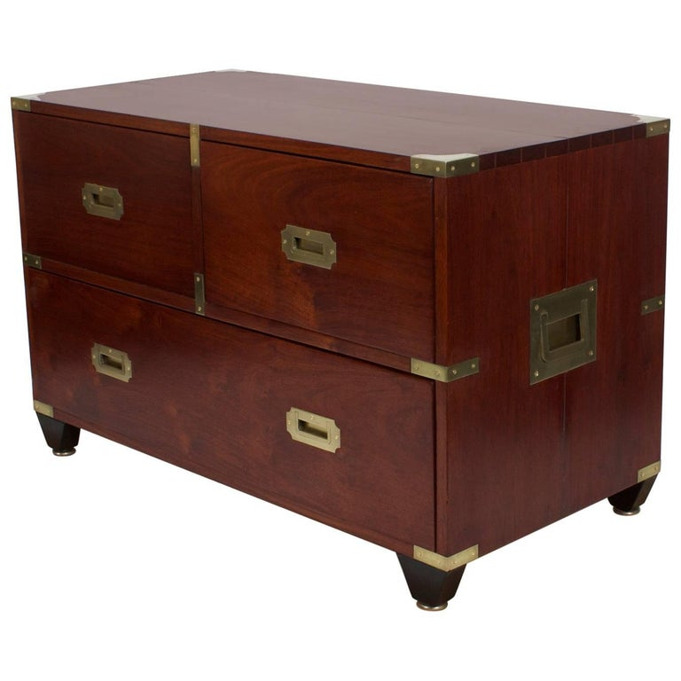 Labeled Charlotte Horstmann Campaign Style Chest