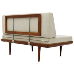 "Hvidt & Molgaard Teakwood Two-Seat Sofa Model ""Minerva"" for France & Son, 1960"