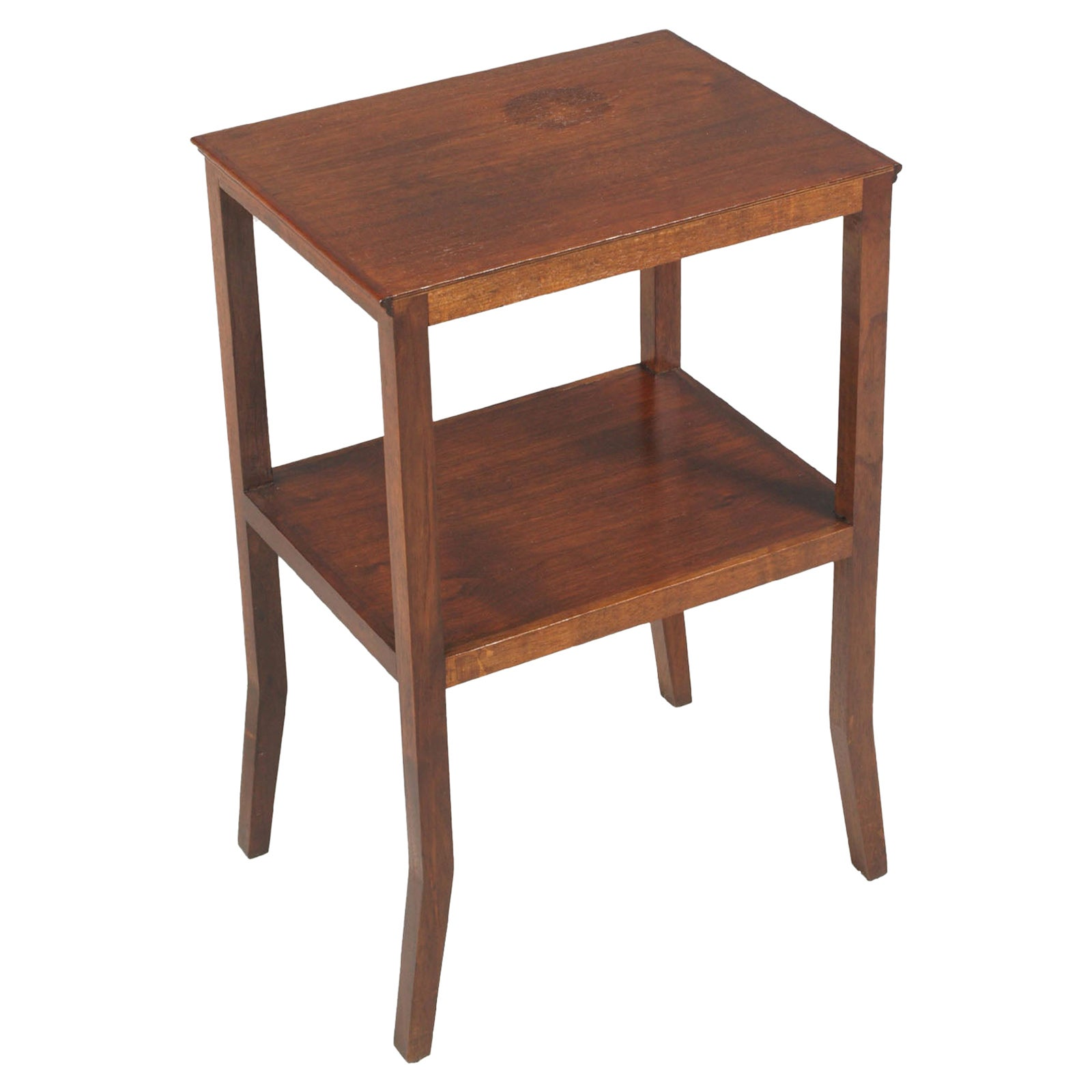 1910s Art Nouveau Side Table Coffee Table in Walnut Restored and Wax-Polished