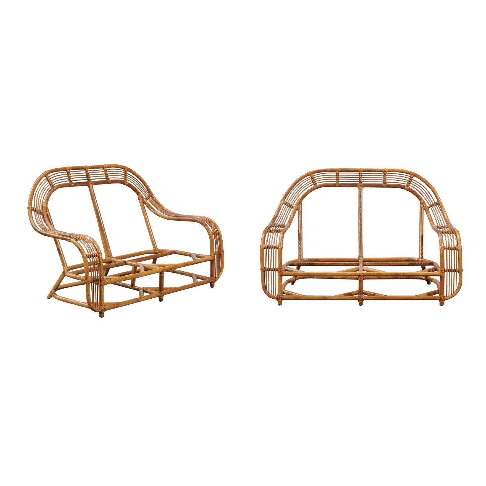 Restored Pair of Breille Sofas by Henry Olko for Willow and Reed, circa 1978