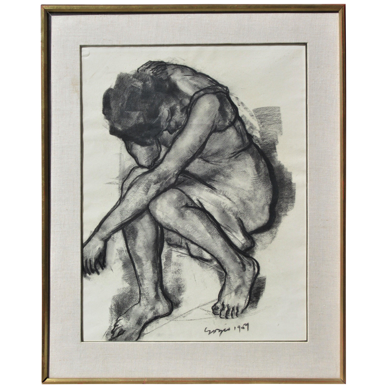 Big Bold Drawing of a Woman, 1957
