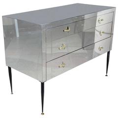 Commode in Metal Inox