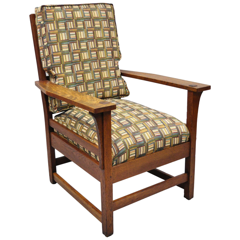 L & JG Stickley Mission Oak Arts & Crafts Armchair Spring Seat Cushion