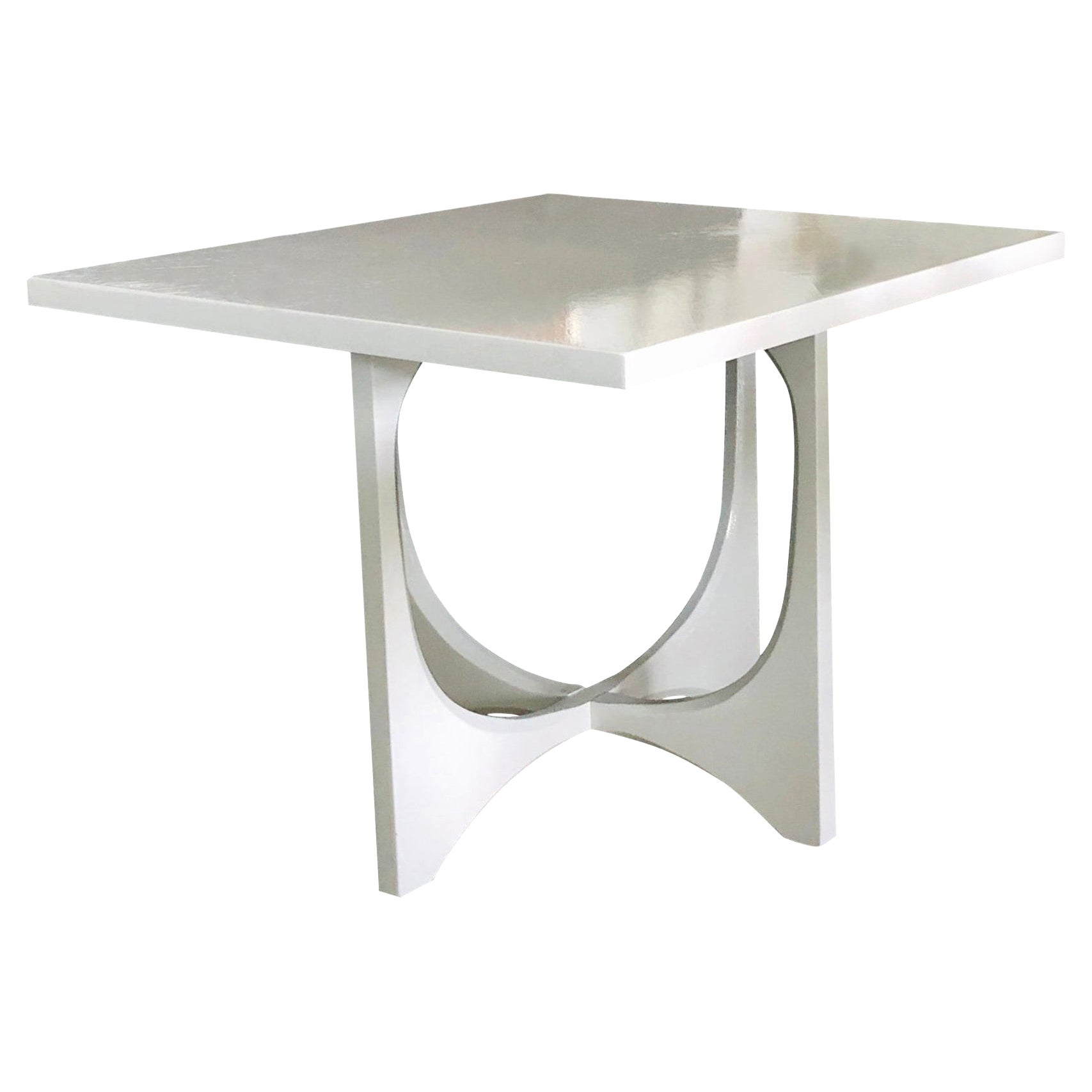 1960s Broyhill Brasilia Lacquered White Wood Side or End or Coffee Table