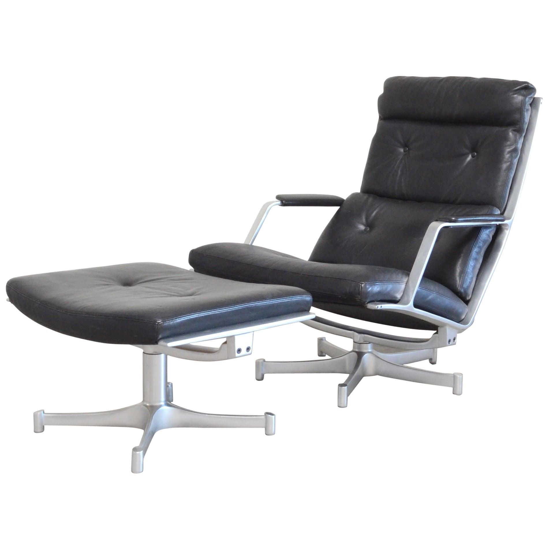 Kill International FK 85 Lounge Chair Cognac Leather Design Kastholm / Fabricius