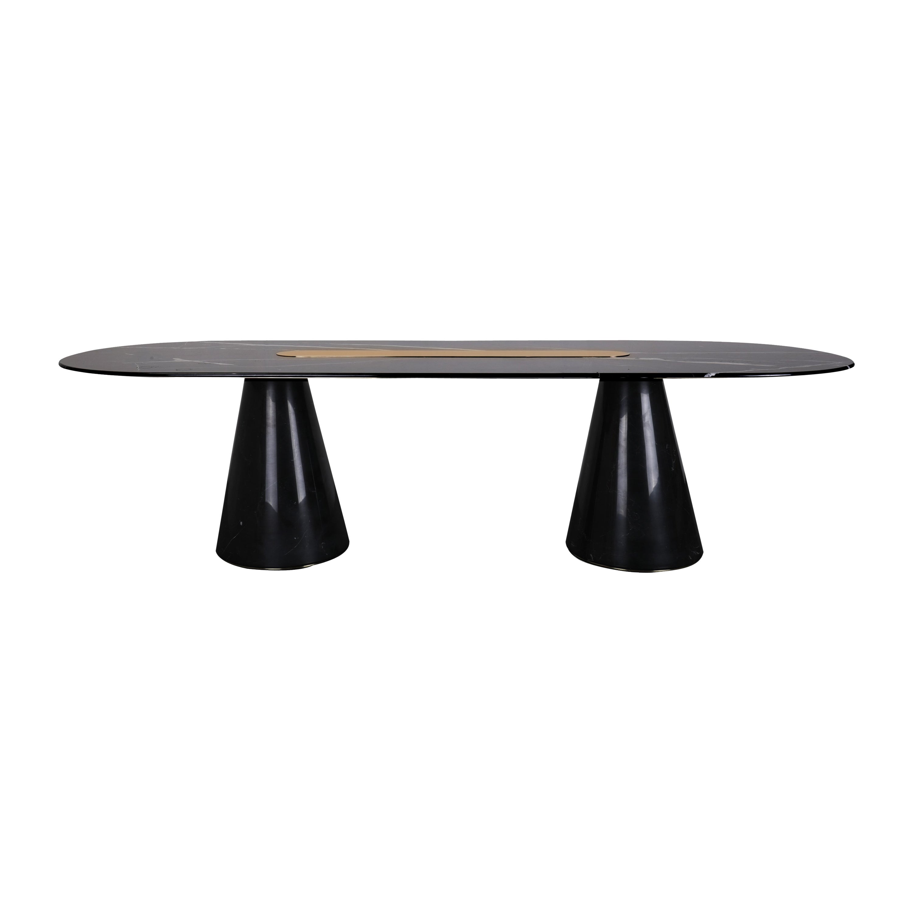 Bertoia Big Dining Table in Nero Marquina Marble