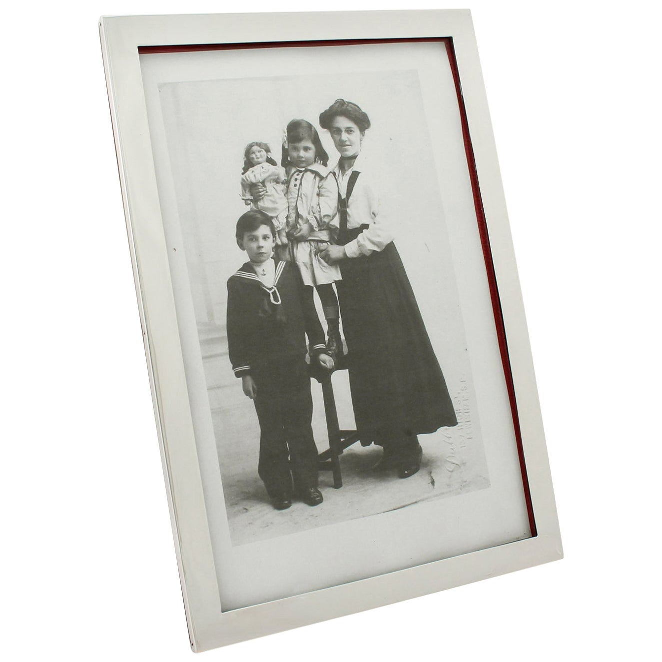 20th Century Antique George V Sterling Silver Photograph Frame