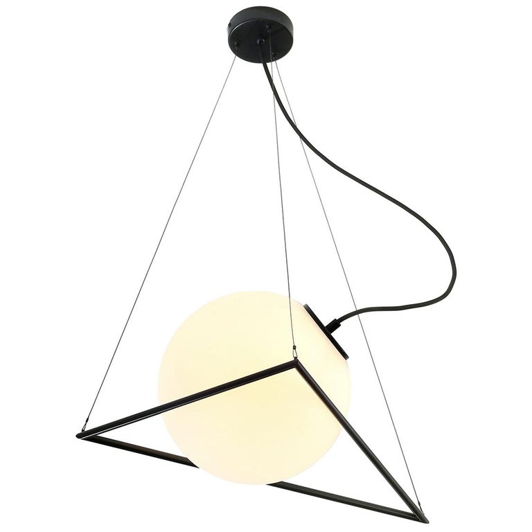In-Circle Pendant Lamp by Olek Vojtek For Sale