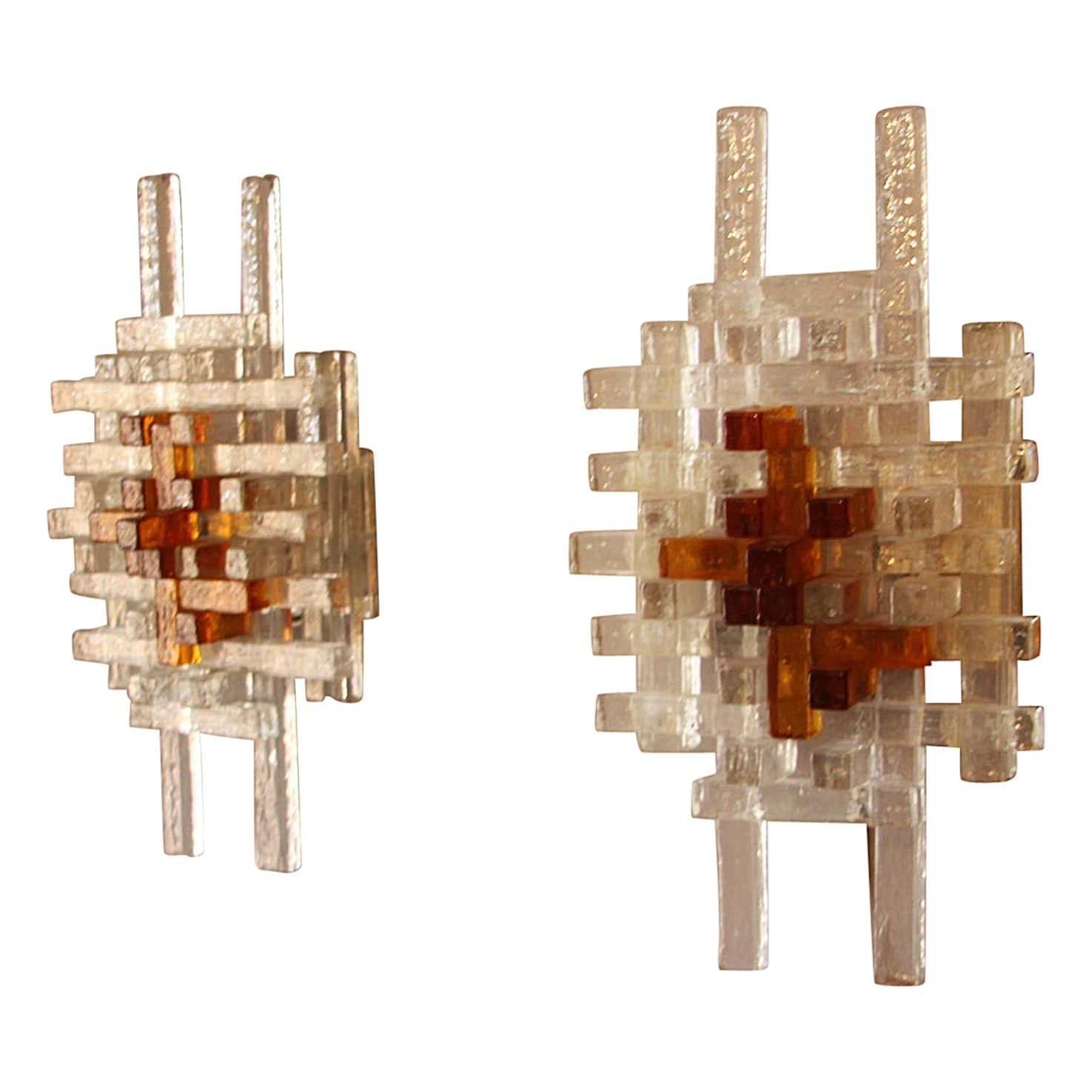 Pair of Mid-Century Modern Wall Lights by Albano Poli for Poliarte