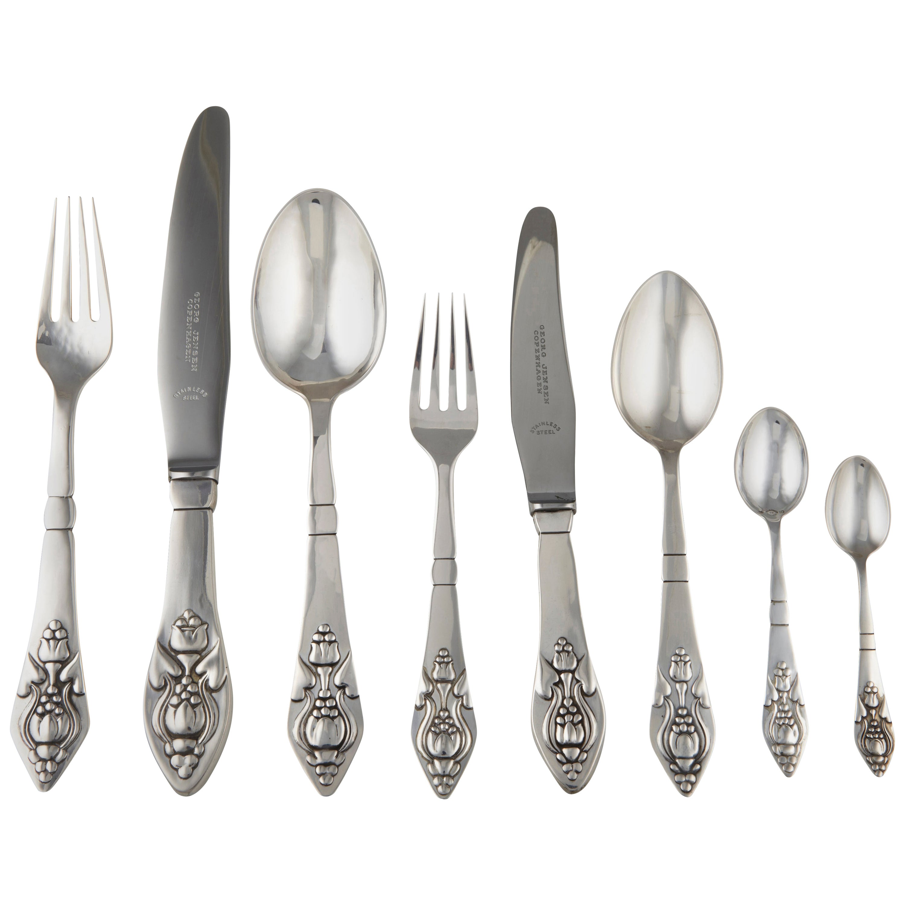 1 One Georg Jensen Continental All Sterling Silver Spreader Old Mark No Mono