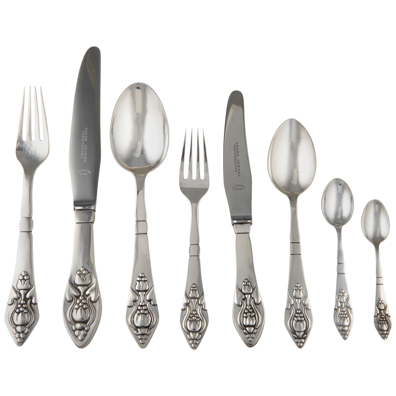 "s no mono many avail Georg Jensen Cypress sterling silver 7 1//2/"" dinner fork"