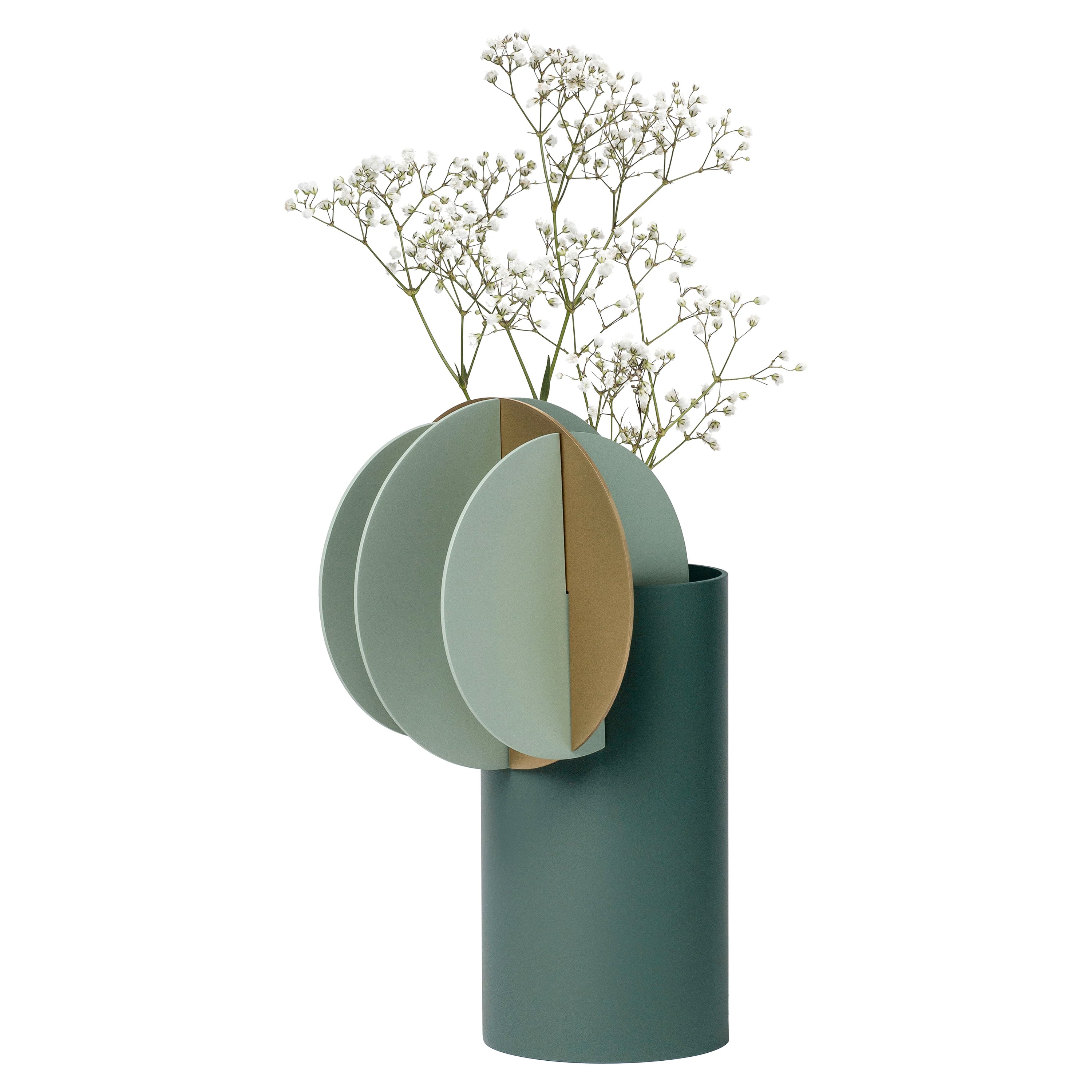 Modern Vase Delaunay CS9 by Noom in Brass and Steel