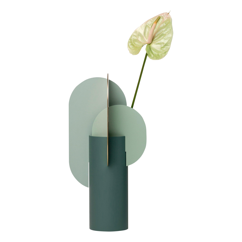 Modern Metal Vase Ekster CS9 by Noom in Brass and Steel