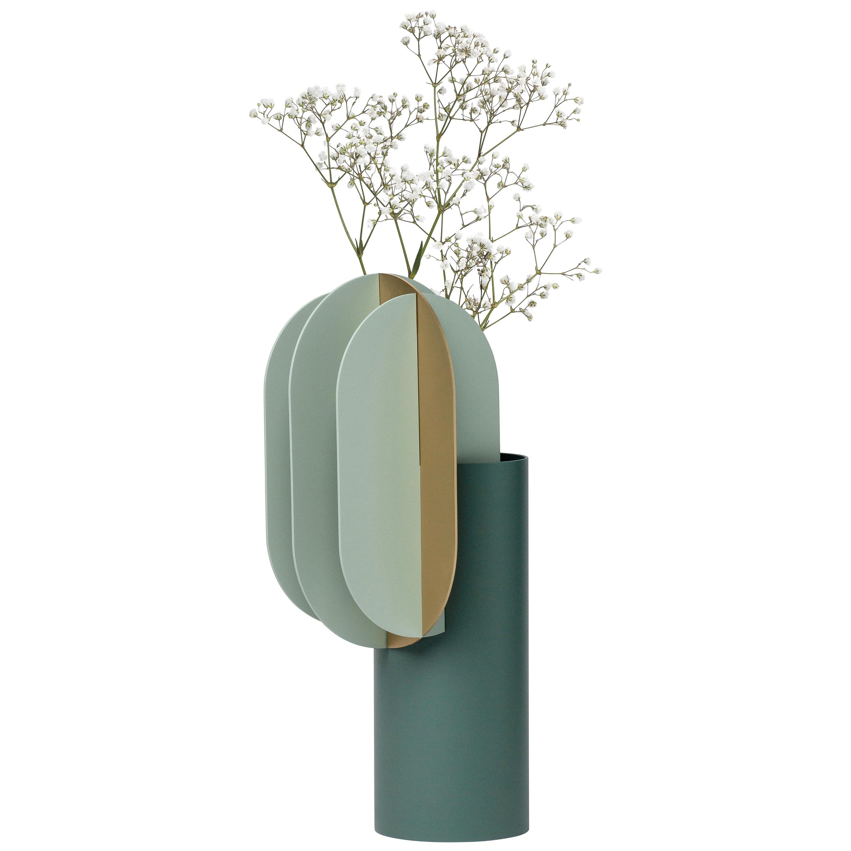Modern Vase Gabo CS9 by Noom in Brass and Steel