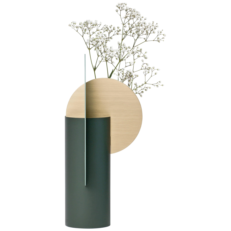 Modern Metal Vase Yermilov CS2 by Noom in Brass and Steel