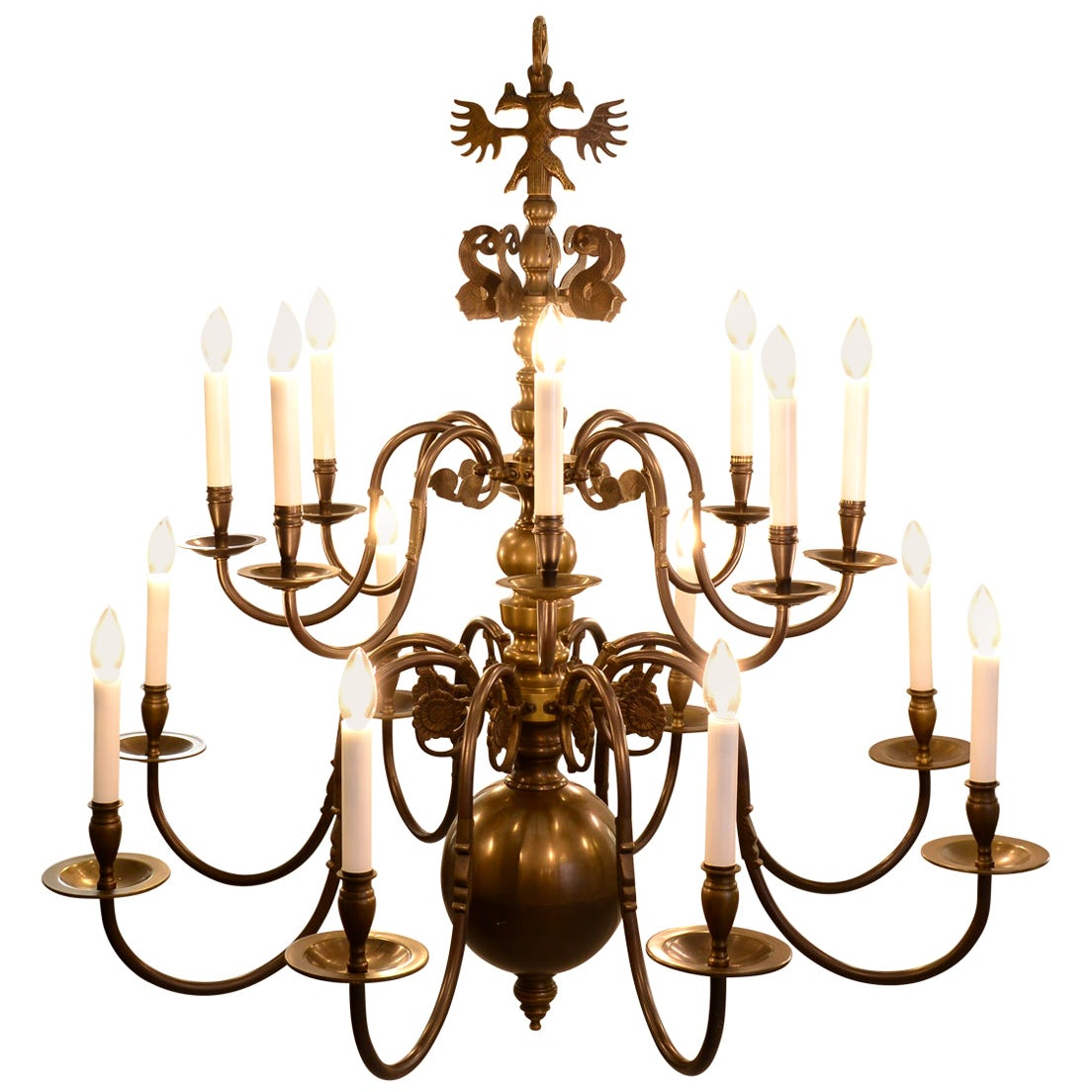 Original  Baroque Style Chandelier from the 1920 / Austro-Hungarian Handcraft