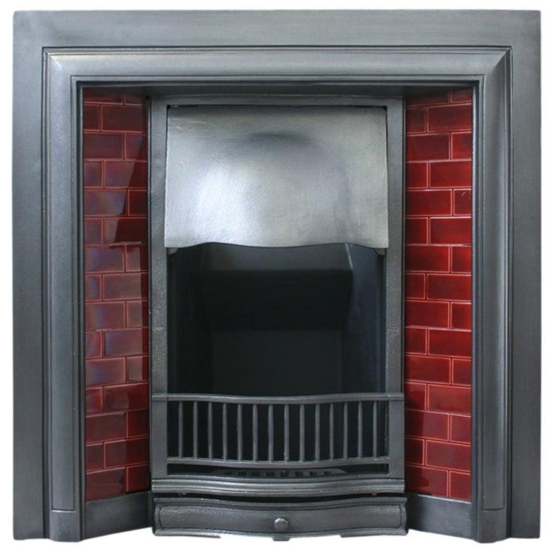 Antique Edwardian Cast Iron Fireplace Grate