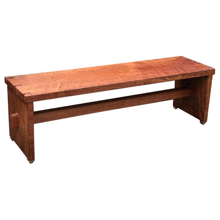 Dovetailed Bench in Mahogany
