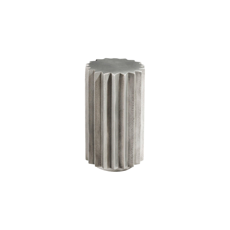 Doris Cast Aluminum Multifaceted Side Table