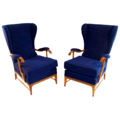 Midcentury Pair of Armchairs by Paolo Buffa for Framar
