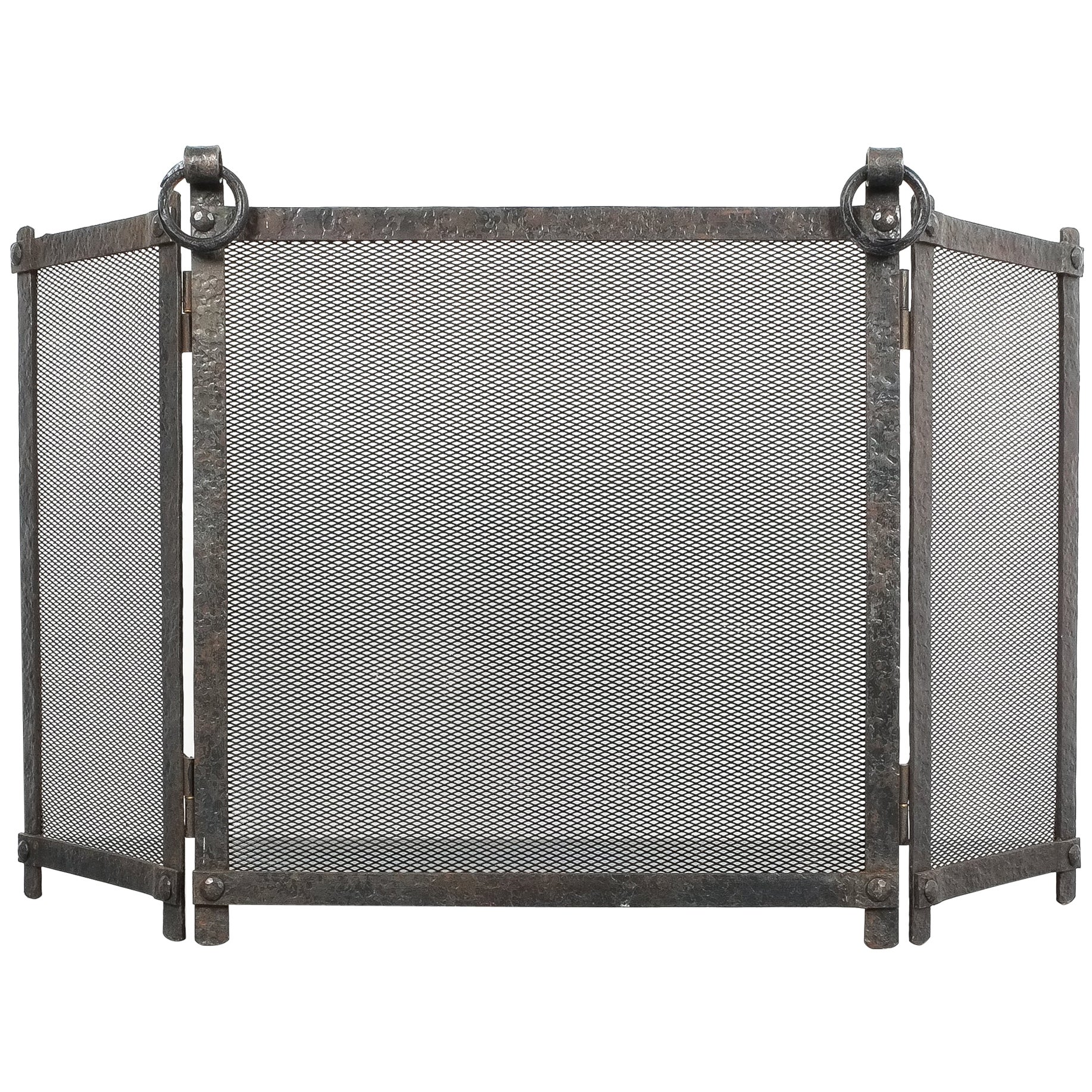 Art Deco Fire Screen from Forged Wrought Iron