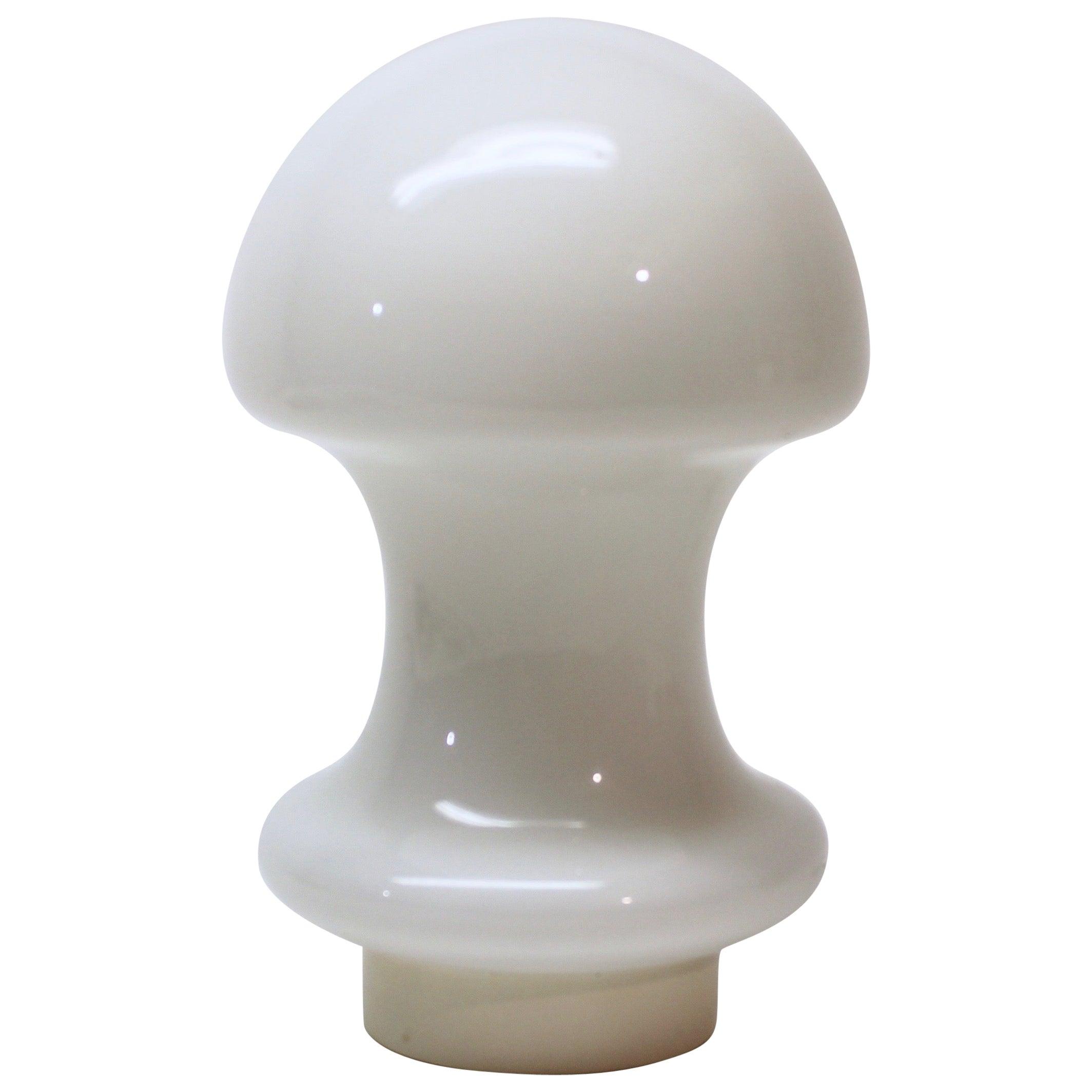 White Glass Murano Mushroom Lamp