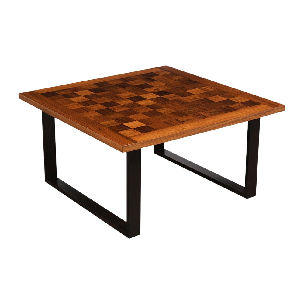 Danish Mid-Century Modern Square Coffee Table
