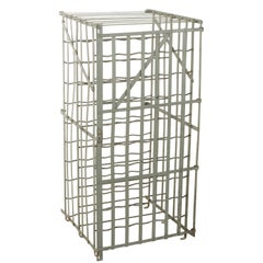 Early 20th Century French Riveted Iron Wine Cage