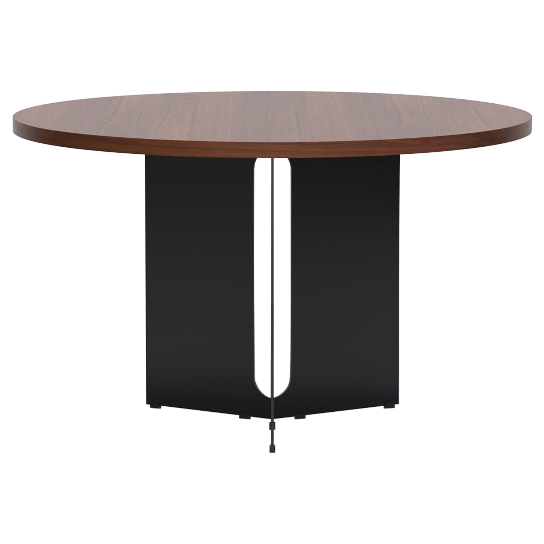 """Trilo Round Table 60"""", Walnut"""