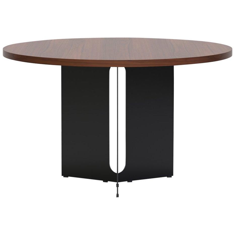 """Trilo Round Table 48"""", Walnut"""