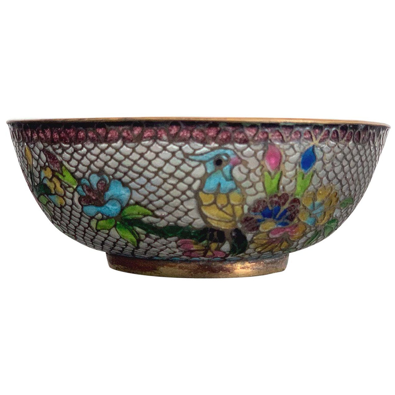 Chinese Plique-a-Jour Bowl