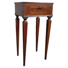 Italy Early 19th Century Regency Walnut Inlaid Side Table