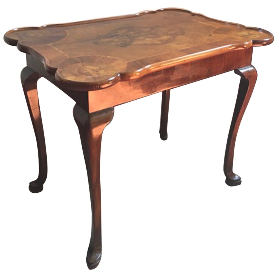 Italy Late 18th Century Desk or Side Table in Louis XV Style in Walnut