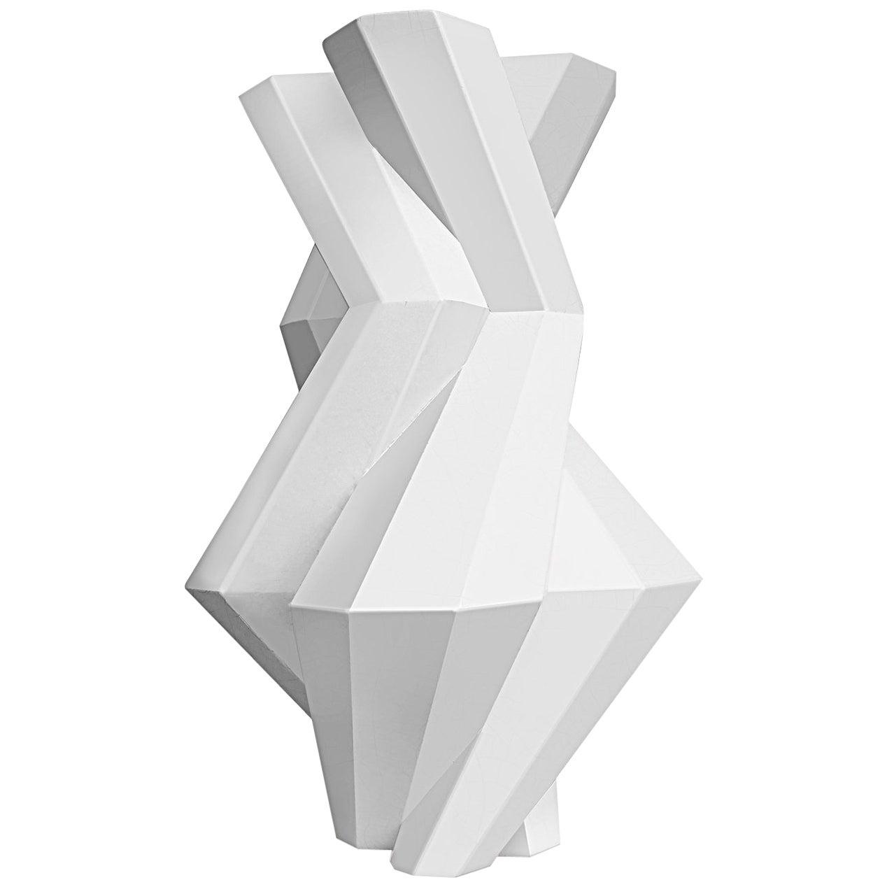 Lara Bohinc, Fortress Castle Vase, White Ceramic by Lara Bohinc