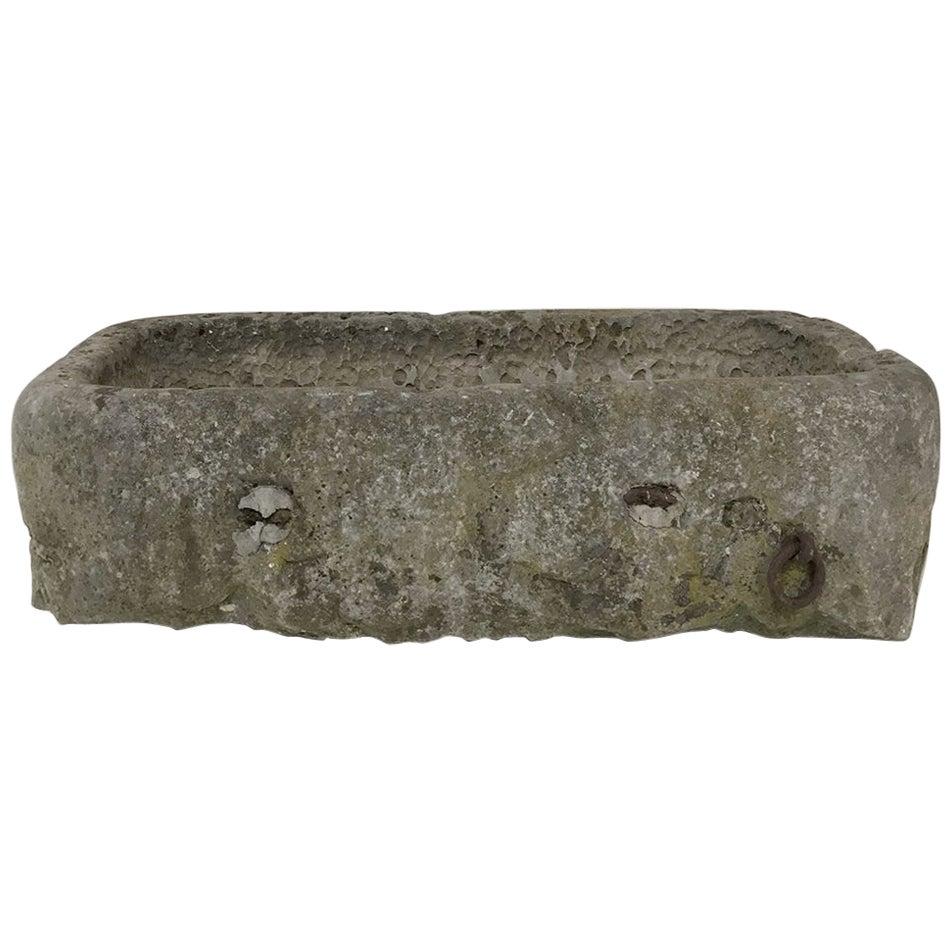 18th Century Hand Carved Stone Jardiniere